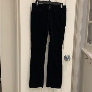 LOFT Black Corduroy modern Sexy Boot Pants